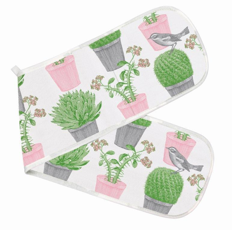 Cactus & Bird Double Oven Glove by Thornback & Peel - The Chef Pad Shop