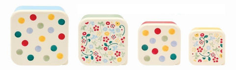 Emma Bridgewater - Polka Dot Set of 4 Snack Tubs / Food Storage - The Chef Pad Shop