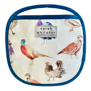 Sarah Whitaker Game Birds Pot Grab - The Chef Pad Shop
