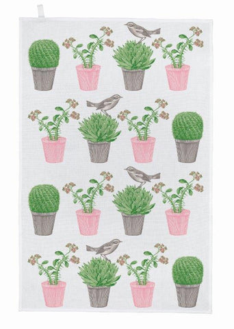 Thornback & Peel - Tea Towel - Cactus & Bird - The Chef Pad Shop