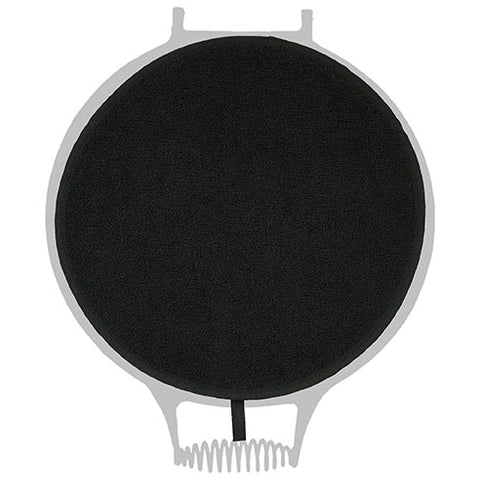 All Black Towelling Hob Cover For Use With Aga Range Cookers - The Chef Pad Shop