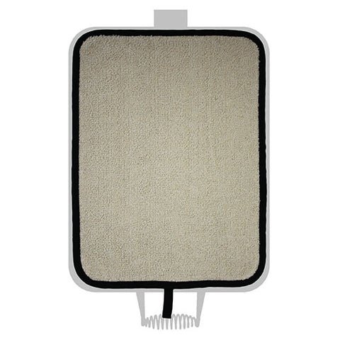 Black and Cream Towelling Hob Cover For Use With Rayburn Range Cooker - The Chef Pad Shop