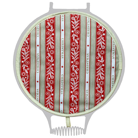 Crisp & Dene Christmas Stripe Chefs Pad for use with AGA Range cookers - The Chef Pad Shop