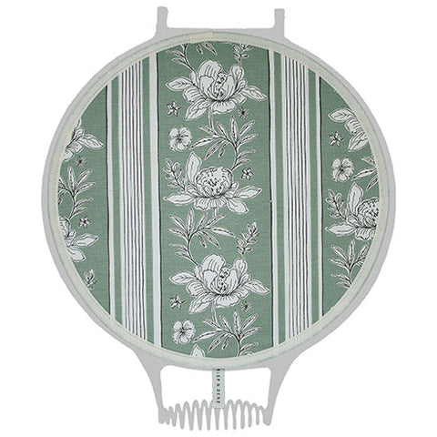 Sage Vintage Floral Hob Cover For Use With Aga Range Cookers - The Chef Pad Shop