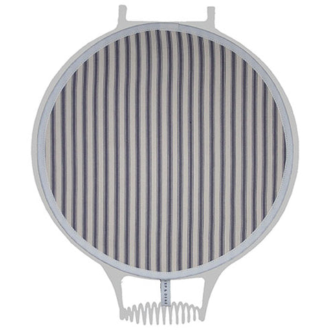 Grey and Cream Ticking Stripe Hob Cover For Use With Aga Range Cookers - The Chef Pad Shop
