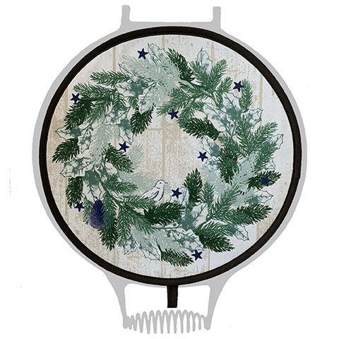 Crisp & Dene Christmas Wreath Chef Pad for Aga - The Chef Pad Shop