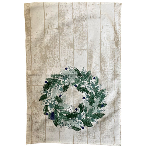 Crisp & Dene Christmas Wreath Tea Towel - The Chef Pad Shop