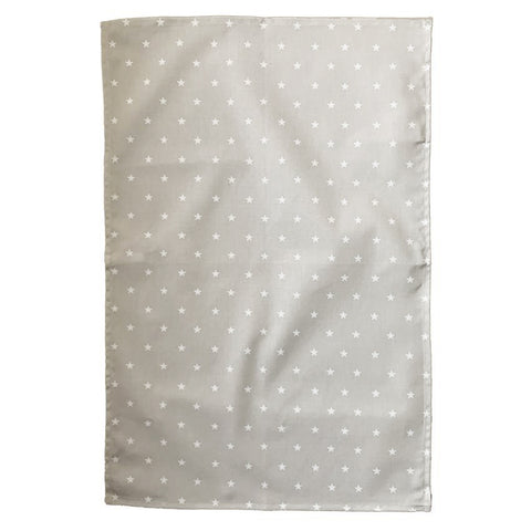 Crisp & Dene Warm Grey Tea Towel with White Stars - The Chef Pad Shop
