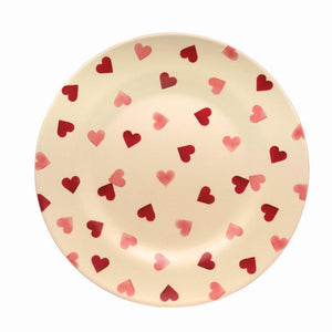 Emma Bridgewater - Pink Hearts 2 Tone Melamine/Bamboo Plate - The Chef Pad Shop
