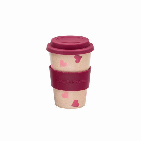 Emma Bridgewater Pink Hearts Rice Husk Travel Mug - The Chef Pad Shop