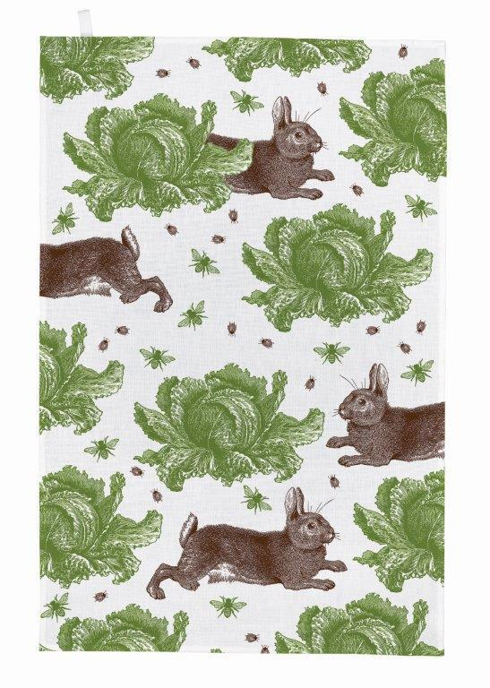 Thornback & Peel - Tea Towel - Rabbit & Cabbage - The Chef Pad Shop