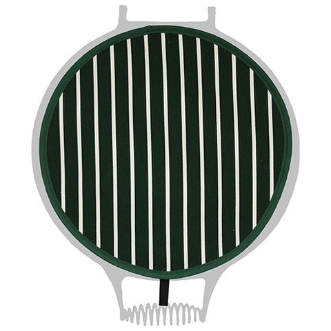 British Racing Green Butchers Stripe Chef Pad For Use With Agas - The Chef Pad Shop