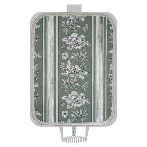 Sage Vintage Floral Hob Cover For Use With Rayburn Range Cooker - The Chef Pad Shop