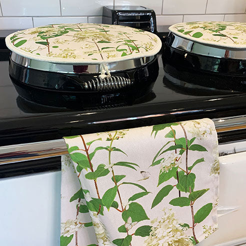 Michael Angove Hydrangea Chef Pad for use with Aga Range Cooker - The Chef Pad Shop