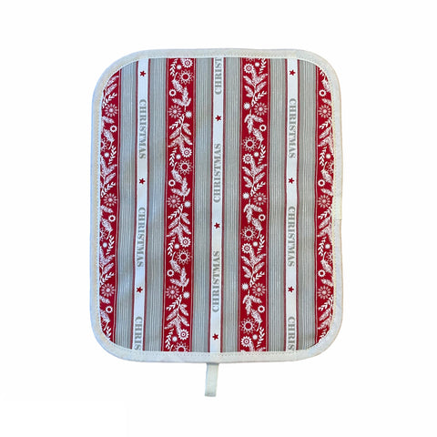 Crisp & Dene Christmas Stripe Chefs Pad for use with Rayburn Range cookers - The Chef Pad Shop