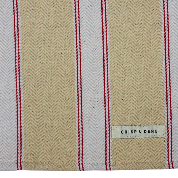 Pink Striped Utility Towel for use with cast iron range cookers - The Chef Pad Shop