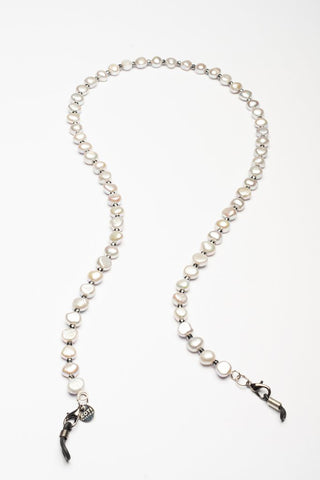 ELEMENTS Glasses Chain Pearls Soft Grey