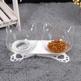 Gamelle pour chat anti reflux adorable transparente