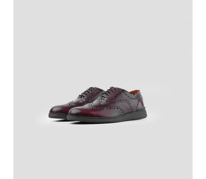 Oxford Wingtip Oxblood Brushed Off