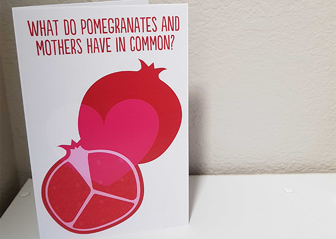 Mother's Day Card - Pomegranate