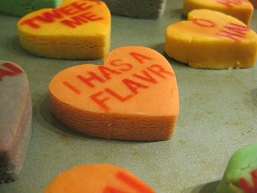 Shortbread Conversation Hearts