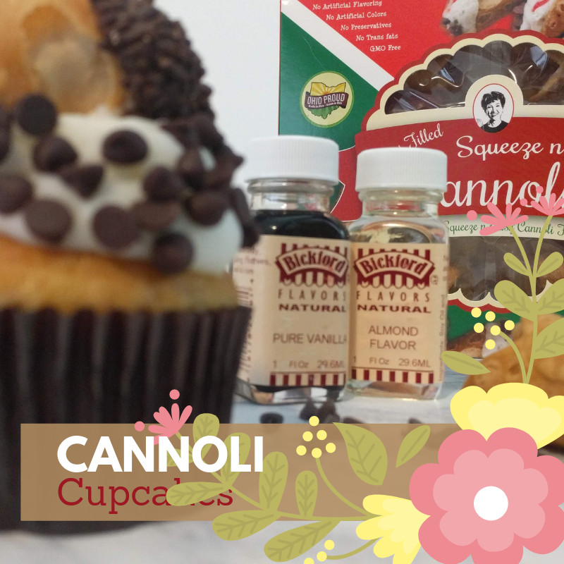 Almond Cupcake with Cannoli Icing