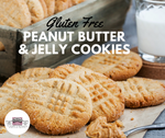 Gluten-Free 4 Ingredient Peanut Butter & Strawberry Jelly Cookies
