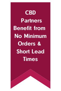 CBD Partners Benefit from No Minimum Orders & Short Lead Times