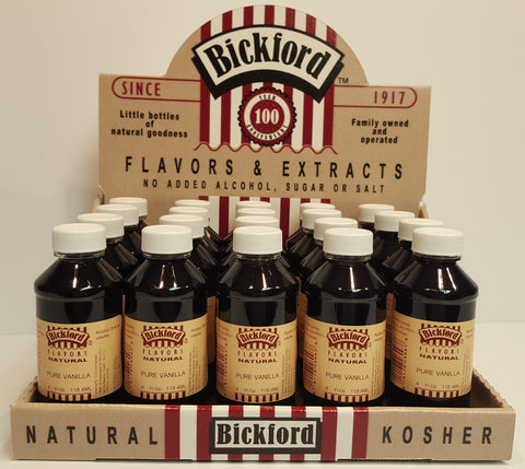 4 oz bottle display rack of Bickford flavors