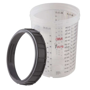 3M™ 16023 PPS™ Large Cup & Collar 28oz. (1 cup and 1 collar per box)