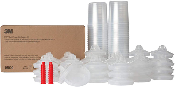 3M™ 16000 PPS™ Standard (22 oz) Lids and Liners Kit 200 micron filter