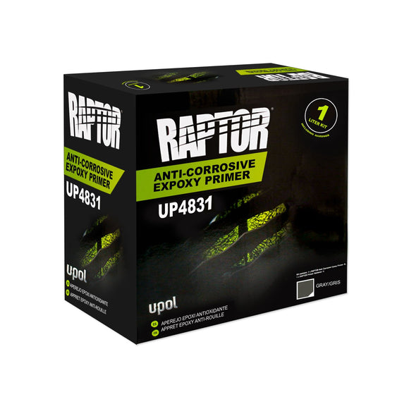 U-Pol RAPTOR™ UP4831 Anti-Corrosive Epoxy Gray Primer 1L Kit
