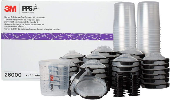 3M™ 26000 PPS™ Series 2.0 Spray Cup System Kit 22 oz (Standard) 200 Micron Filter