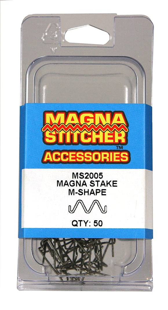 Motor Guard MS2005 M-Shape Magna-Stakes, 50-Pack