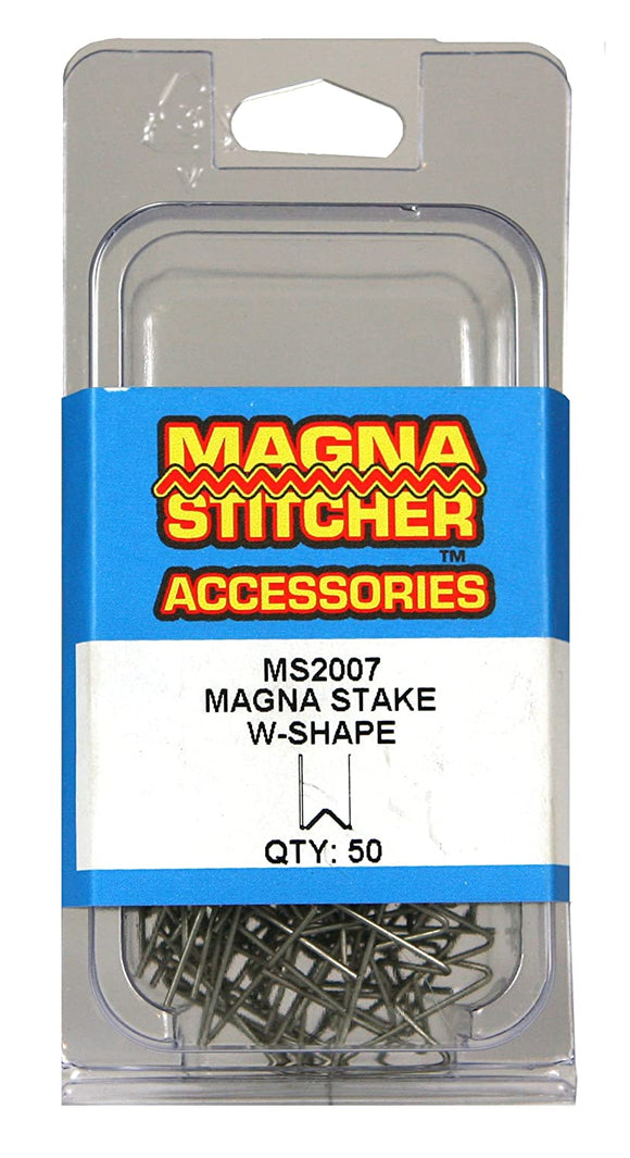 Motor Guard MS2007 W-Shape Magna-Stakes, 50-Pack