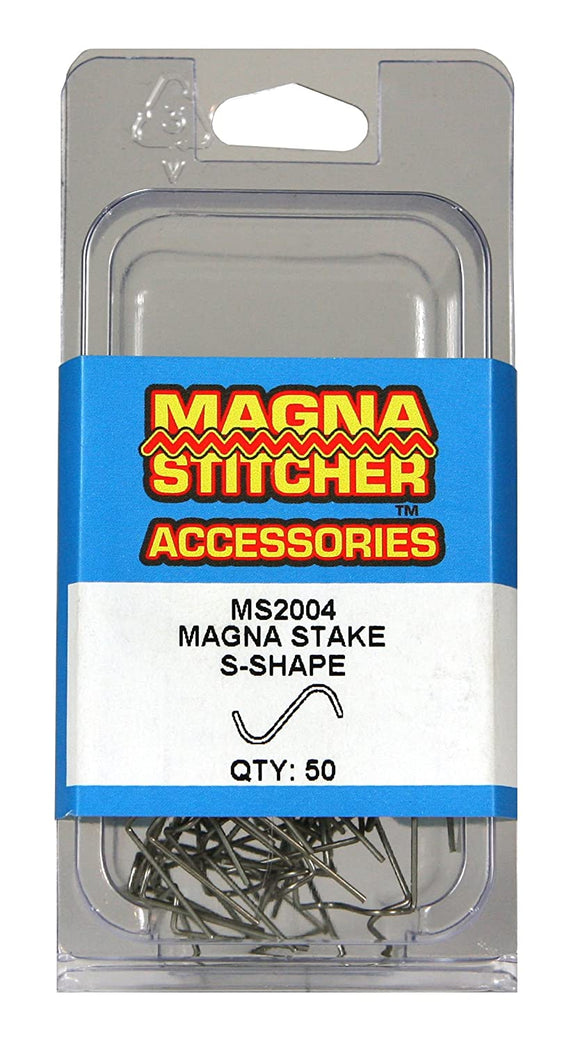 Motor Guard MS2004 S-Shape Magna-Stakes, 50-Pack