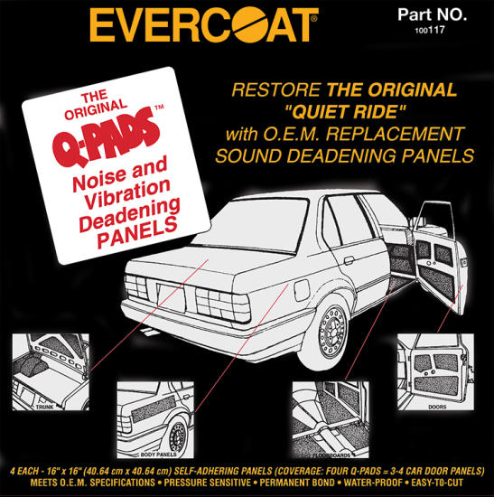Evercoat Q-Pads™ Sound Deadener