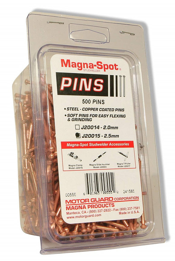 Motor Guard J20015 Magna Draw Pins 2.5mm (500-Pack)