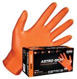 SAS Safety Astro Grip Nitrile Disposable Powder-Free Gloves ( Box of 100 )