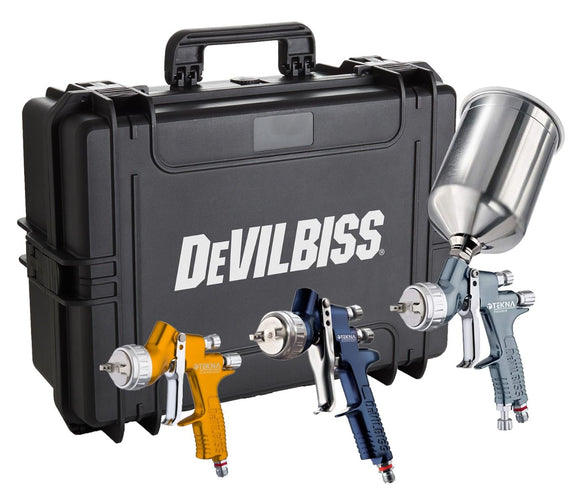 DeVilbiss® 704239 TEKNA® Premium 3-Gun Painter's Kit ( Discontinued )