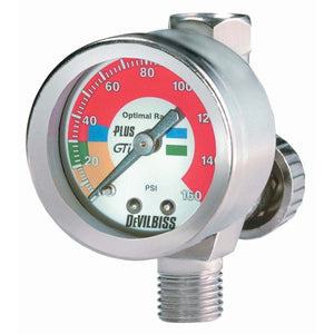 DeVilbiss® 180089 HAV-511 High Output Air Adjusting Valve w/Pressure Gauge