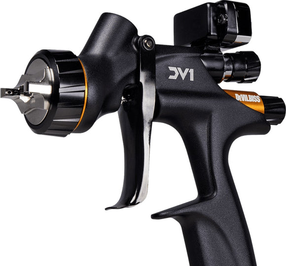 DeVilbiss® 704520 DV1 Clearcoat Gravity Spray Gun Kit 1.2mm, 1.3mm, 1.4mm