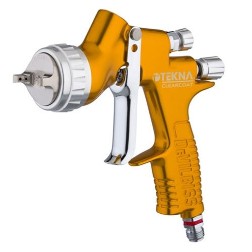 DeVILBISS® 704198 TEKNA® Clearcoat Gravity Feed Spray Gun, 1.2mm 1.3mm and 1.4mm (Uncupped)