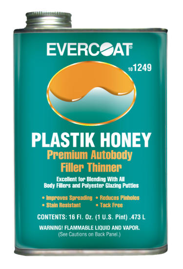 Evercoat 1249 Plastik Honey, Premium Autobody Filler Thinner