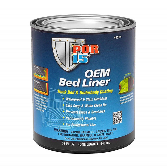 POR-15® 49704 OEM Bed Liner - Black 1 Quart