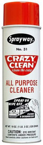 Sprayway SW031 Crazy Clean All Purpose Cleaner 19 Oz Aerosol