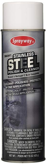 Sprayway SW841 Stainless Steel Polish & Cleaner 15 oz spray
