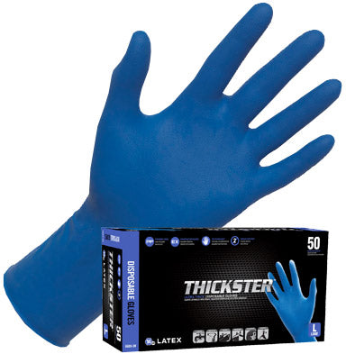 SAS Safety Thickster Latex Disposable Powdered Gloves ( 50 gloves per box )