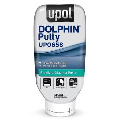 U-Pol UP658 DOLPHIN™ Flexible Glazing Putty 615 ml Bottle