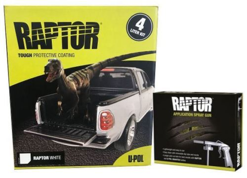 U-Pol RAPTOR™ UP4807 White 4L Bed Liner Kit with Applicator Gun
